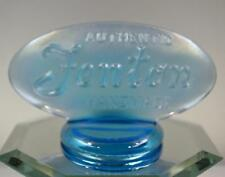FENTON LOGO SIGN Celeste Blue Stretch 90th ANNIVERSARY OVAL 9499KA FREE USA SHIP