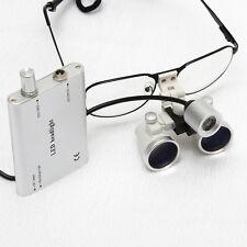 Zahnärzt Dental 3.5X Brillenlupe Lupenbrille Glasses+ LED Scheinwerferlampe NTVW