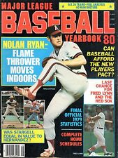 1980 Major League Baseball Yearbook magazine, Nolan Ryan, Houston Astros ~ Good