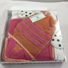 MacKenzie Childs BEE Hooded Towel Set Baby NIB