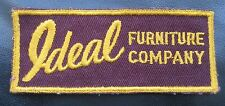 IDEAL FURNITURE COMPANY EMBROIDERED SEW ON ONLY PATCH UNIFORM ADVERTISING