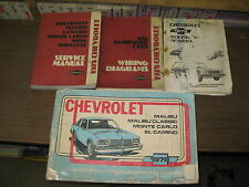 1978 CHEVROLET MALIBU CAMARO GM FACTORY ELECTRICAL SERVICE MANUAL & ELECTRICAL