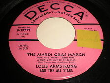 Louis Armstrong and The All Stars: The Mardi Gras March / I Love Jazz 45