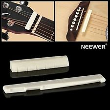 Neewer 6 String Acoustic Guitar Bone Bridge Saddle and Nut Made of High Q... New