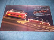 "1989 Corvette Vintage Ad ""See the Best of Europe Through Your Rearview Mirror"""