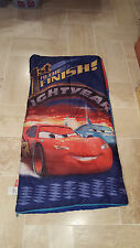 Disney CARS Lightning Mcqueen 1ST TO THE FINISH Blue Toddler Child SLEEPING BAG