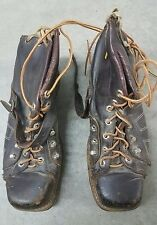 VTG 40's ? 50's ? 60's ? Earlier ? Brown Leather work boots steel toe Sz 10
