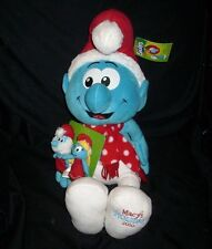 MACY'S 2010 SMURFS W/ FINGER PUPPETS CHRISTMAS STUFFED ANIMAL PLUSH TOY NEW TAG