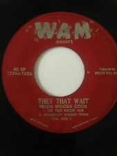 "RARE BLACK GOSPEL SOUL EP 45/ HELEN WOODS COOK   ""THEY THAT WAIT""   HEAR"