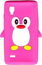 New Pink Novelty Penguin Silicone/Cover/Case for LG Optimus L9 P760 / P768