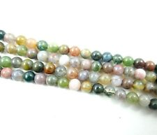 Wholesale India agate Gemstone Round Loose Beads Jewelry 4 mm 15""