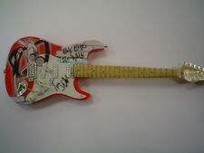 Miniature Guitar (24cm Tall) : PINK FLOYD WALL WITH TEACHER STRATOCASTER Red