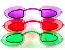 Tanning Bed  Eyewear Goggles Eye Candy Neon Colors  3 Pair with Strings