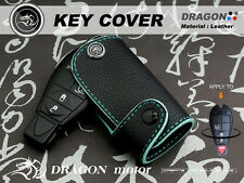 Leather Key fob Holder Case Chain Cover fit For DODGE Caliber Challenger 092H