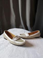 mocassins fairmount toile tissée ficelle et cuir blanc pointure 8M (38)