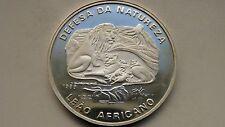 Mozambique 500 Meticais 1989 Lions Silver Proof coin
