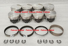 Ford 351C Speed Pro Hypereutectic Coated Skirt Flat Top Pistons+MOLY Rings +20