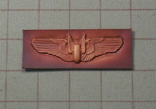 WW2 Leather  Aerial Gunner Wings / Embossed Leather Wing Badge