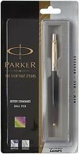 Parker Jotter Standard CT Ball Pen Blue Ink GOLD TRIM [Black Body- FREE SHIPPING