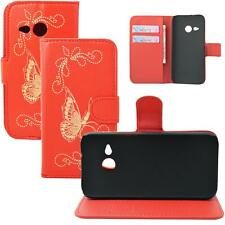 Red Flip Leather Wallet Stand slots Covers Case For HTC One MINI 2 2014 M8 Mini