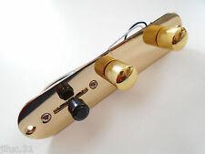 Plaque de contrôle TELECASTER complète gold control plate TELE Fender, Squier...