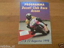 1998 DUCATI CLUBRACES CIRCUIT ASSEN PROGRAMMA,DUCATI CLUB NEDERLAND