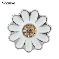 Vocheng 18mm Flower Snap Crystal Buttons Jewelry Vn-373