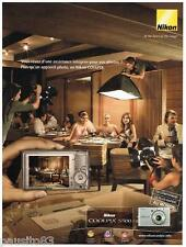 PUBLICITE ADVERTISING 095  2007  NIKON  appareil photo COOLPIX S500