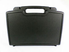 #086 Black Plastic Hard Case With Convoluted Foam in Lid and Base