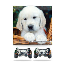 Skin Decal for Sony Playstation 3 PS3 Slim + 2 controllers sticker Puppy