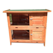 New Large Double Storey Rabbit,Ferret,Guinea Pig Cage Hutch with 2 TRAYS T035