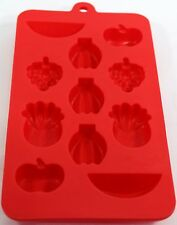 Non Stick Silicone Ice Cube Moulds Ice Cube trays - Fruits Shape Red
