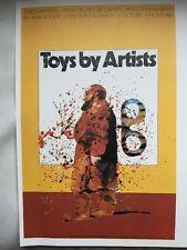 Milton Glaser GIOCATTOLI dall'artista PARIS ESPOSIZIONE pop art poster 1973 POP ART 17
