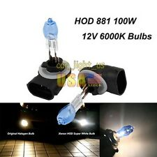 881 Halogen 100W Fog Light  6000K Super White DC 12V Light Bulbs
