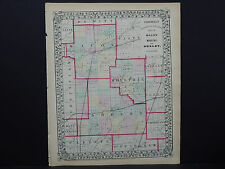 Illinois Antique Map, 1869 Counties of Macon, Moultry, & Shelby M9#74