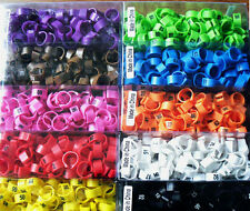 100pcs/lot color Numbered birds duck Chicken Leg Bands 12mm Chicken Rings