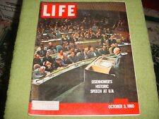 LIFE MAGAZINE OCT 3 1960 DWIGHT D. EISENHOWER U.N.
