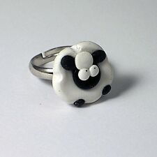 sheep adjustable ring cute emo baa handmade gift farmer yard lamb