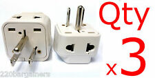 Plug Converter 3pk 2-In-1 Universal American Adapter Euro Asia Plug to USA