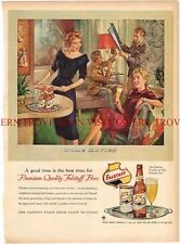 1954 Falstaff Beer Home Movies 14 inch ad Tavern Trove