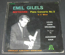 BEETHOVEN - Piano Concerto No. 3 GILELS / GAUK .  HALL OF FAME HOFS 504 lp
