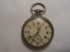 Ancienne montre a gousset chrono J.Dusquene Nancy argentan