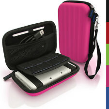 Pink EVA Hard Carry Case Cover for New Nintendo 3DS XL 2015 Sleeve Bag Pouch + S