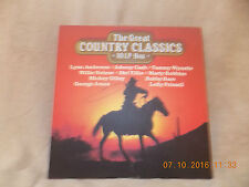 10 LP Box, The Great Country Classics,Johnny Cash, Willie Nelsen,Tammy Wynette,
