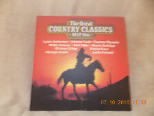 10 LP Box, The Great Country Classics, Johnny Cash, Willie Nelsen, Tammy Wynette,