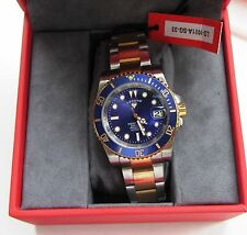 "Swiss Watch International ""Legend"" Deep Blue Divers Automatic Two Tone 200mtr"