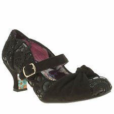 irregular choice black fancy knot patent lace low heels size 39 uk6