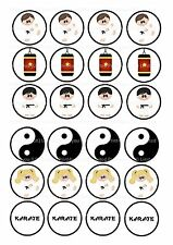 24 Edible cake toppers decorations ND2 Karate Martial Arts Kung Foo cartoon