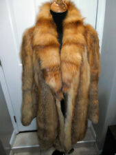 SILKY LUSH DEEP RED FOX FUR JACKET COAT.THICK SOFT PELTS.SZ MED.