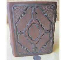 Vintage BOUND PHOTO ALBUM,c.1870,46 IMAGES,Tintypes,CDVs,Studio Photos